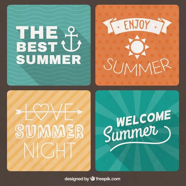 Retro summer cards