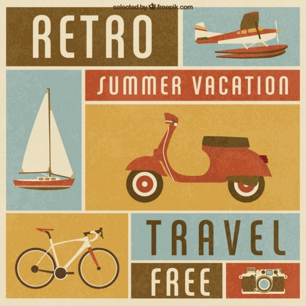 Retro summer vacation transport