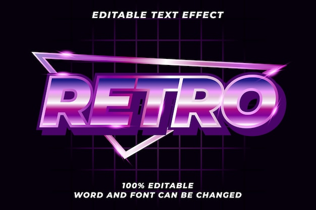 Retro text style effect Premium Vector