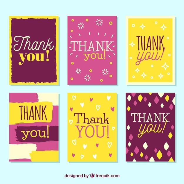 Retro thank you card collection