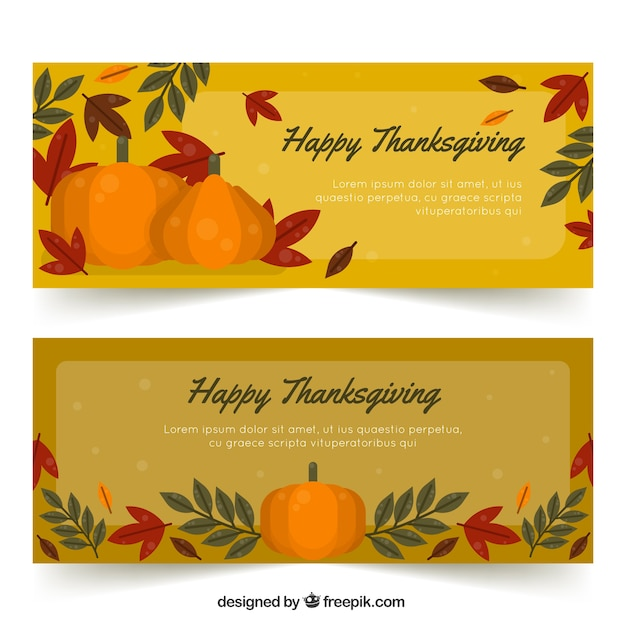 Retro thanksgiving banners