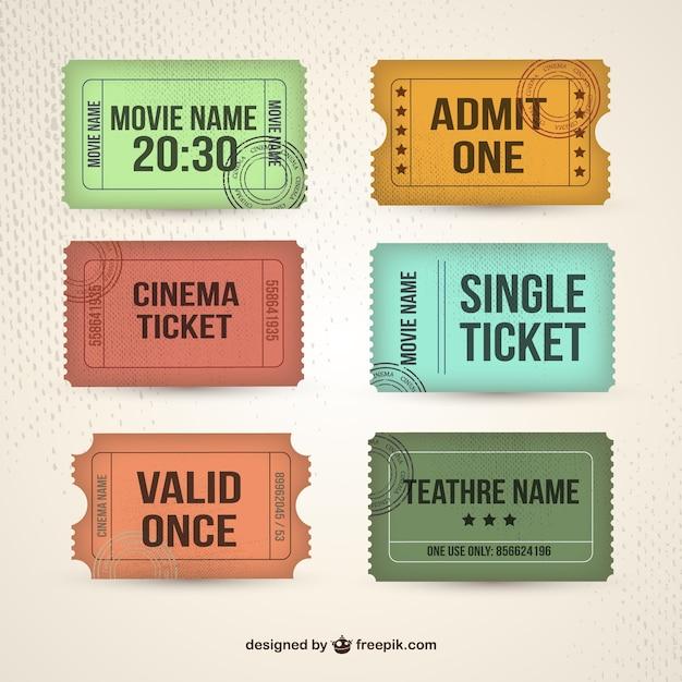Retro tickets collection