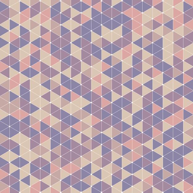 Retro triangle design background Free Vector
