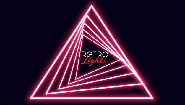 Retro triangle nelights geometric background Free Vector