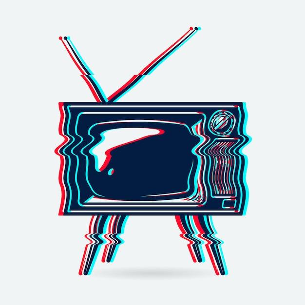 Retro tv object Free Vector