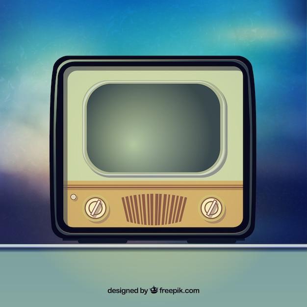 retro tv free vector