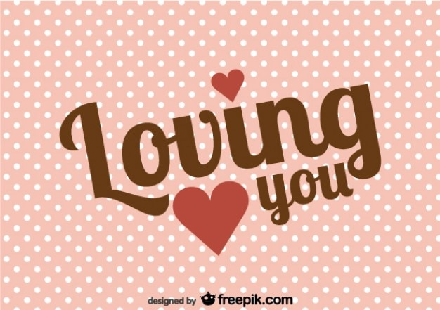Retro Valentine S Day Message Card Vector Free Download