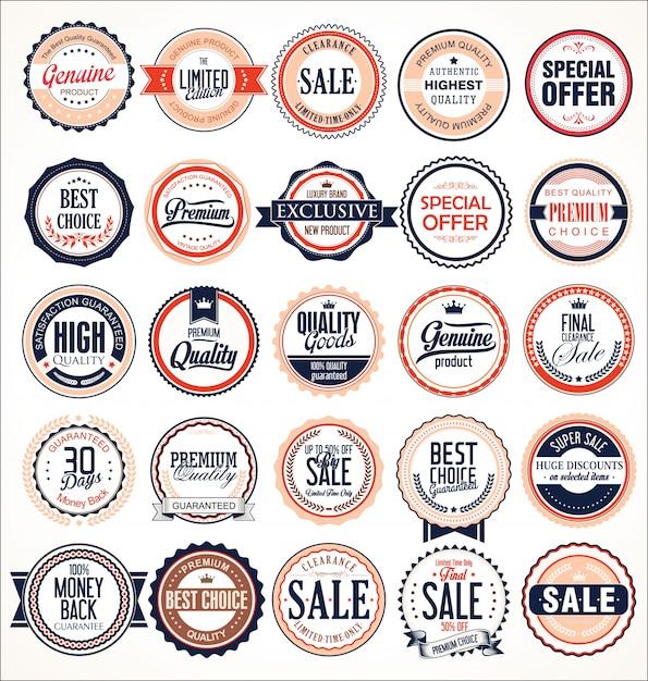 Retro vintage badges Premium Vector