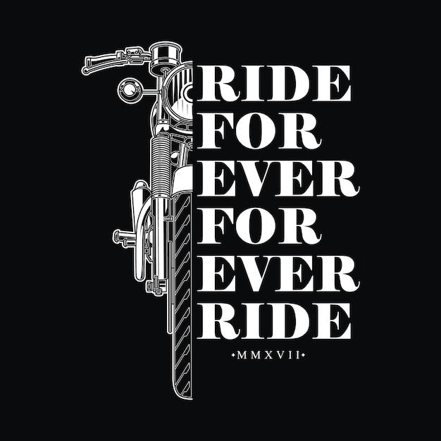 Retro vintage design  for biker Premium Vector