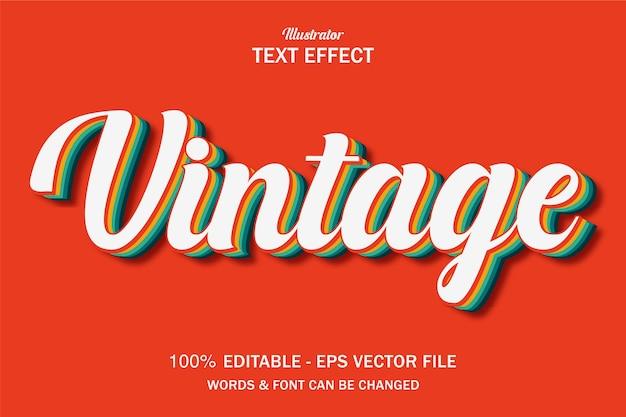 Retro vintage text style effect Premium Vector