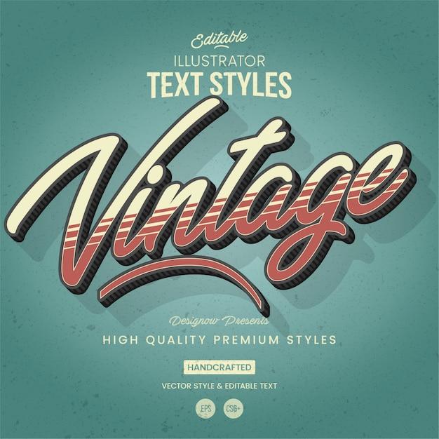 Retro & vintage text style Premium Vector
