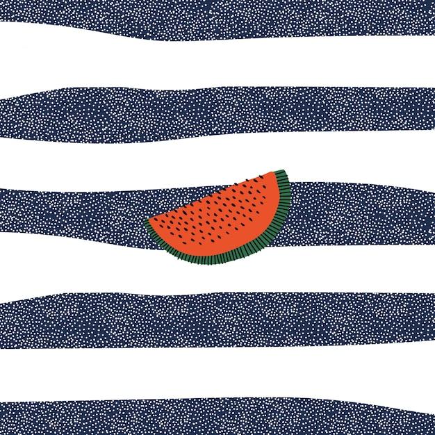 Retro watermelon Free Vector
