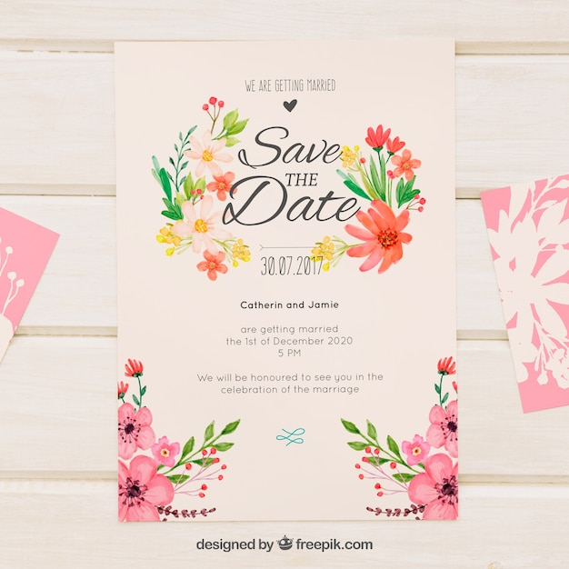 floral invitation template free