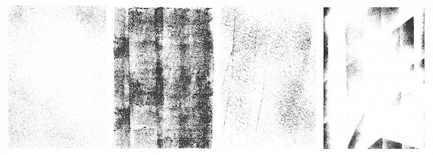 Ретро белый гранж вертикальные баннеры Бесплатные векторы