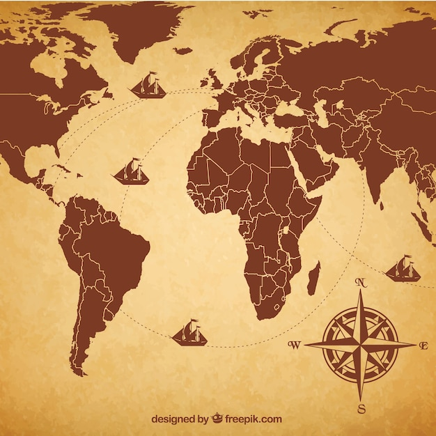 Retro world map vector free download retro world map free vector gumiabroncs