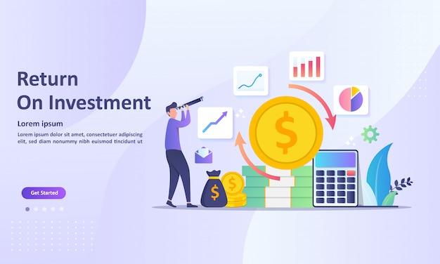 Return on investment concept Premium Vector