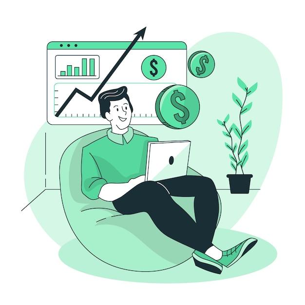 Revenue concept illustration Free Vector