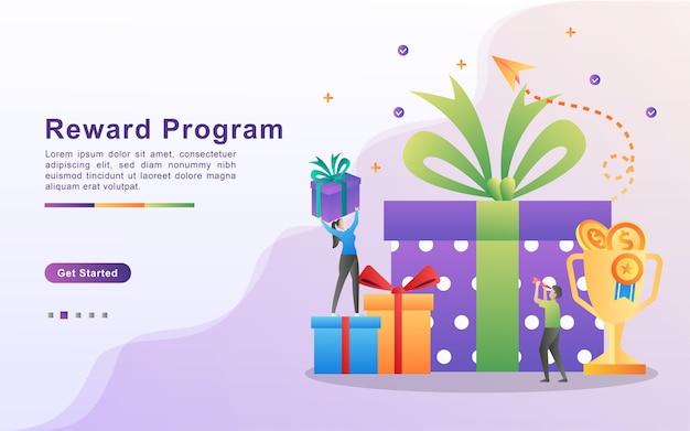 Программа вознаграждений и концепция подарка. Premium векторы
