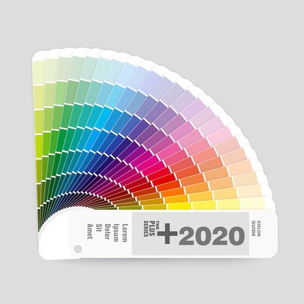 グラフィックとウェブデザインのrgbカラーパレットガイドの図 Premiumベクター