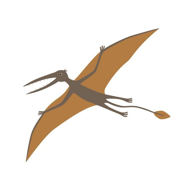 Динозавр, rhamphorhynchus. векторная иллюстрация Premium векторы
