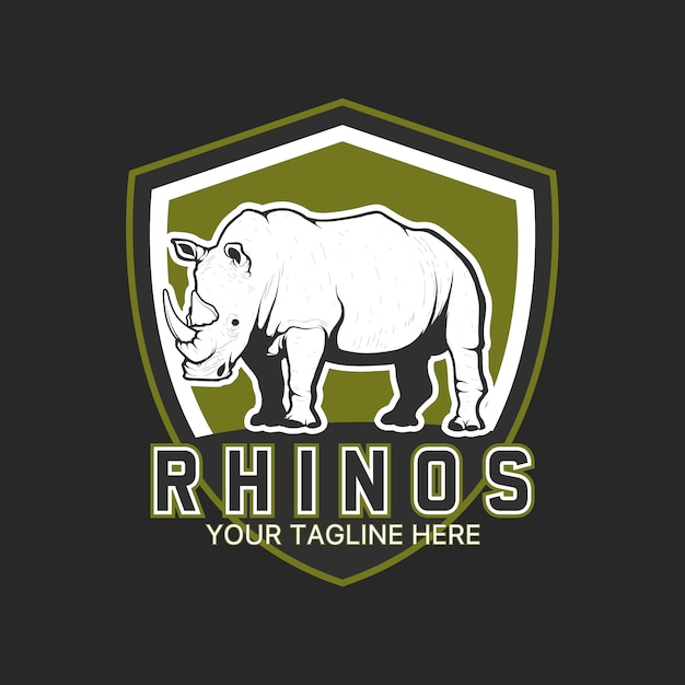 rhino logo template design vector free download