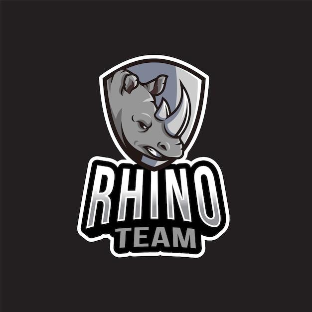 Шаблон логотипа команды rhino Premium векторы