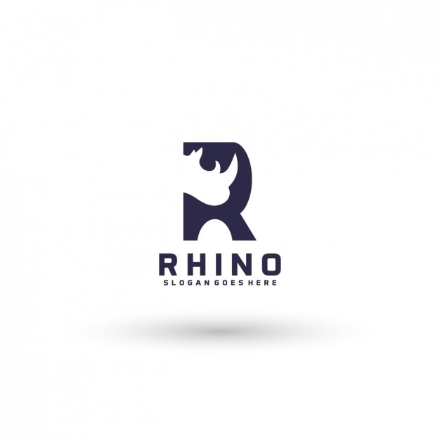rhinoceros logo template vector free download