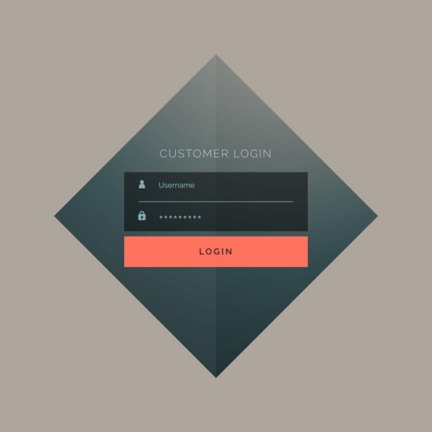Rhombus login template Vector | Free Download