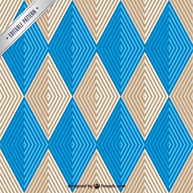 Rhombus seamless pattern Free Vector