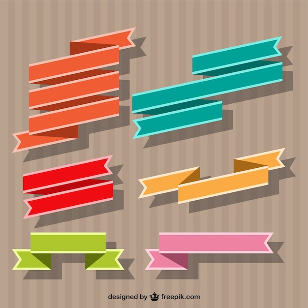 Ribbon banner vector Vector | Free Download