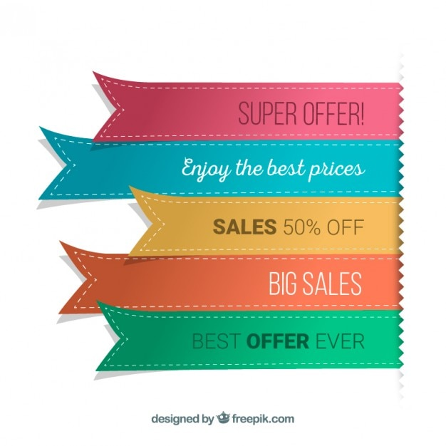 Ribbon banners Free Vector