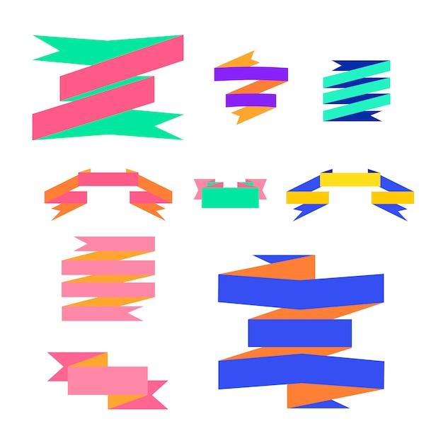 Ribbon label vectors illustration Free Vector
