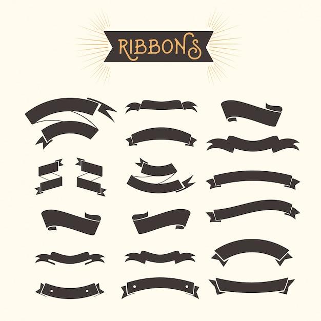 ribbons set Free Vector