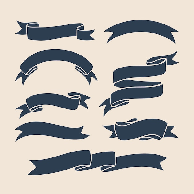 Ribbons vector collection Premium Vector