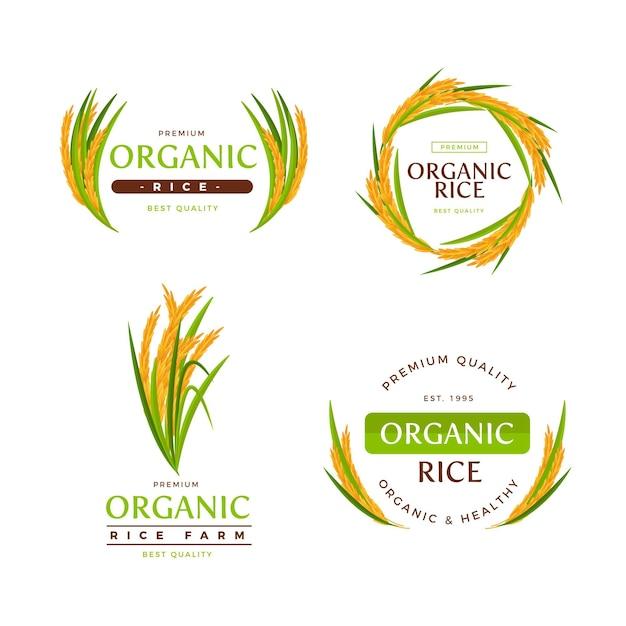 Rice logo collection Free Vector