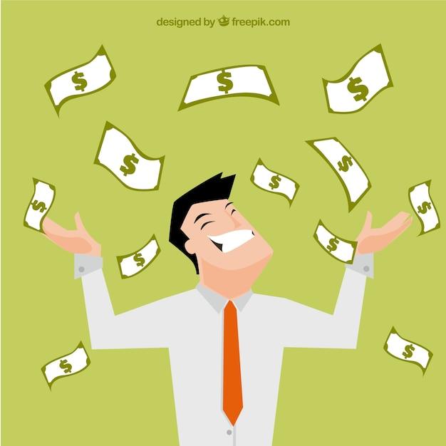 Rich businessman illustration Free Vector