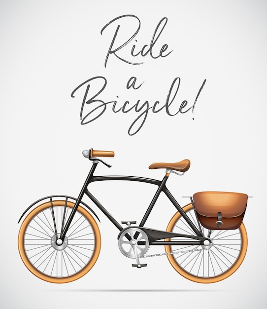 Ride a bicycle scene Free Vector
