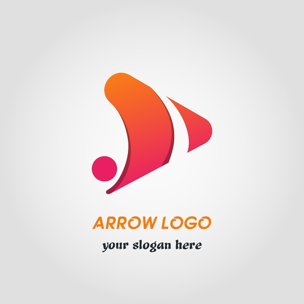 right side abstract arrow logo template with gradient
