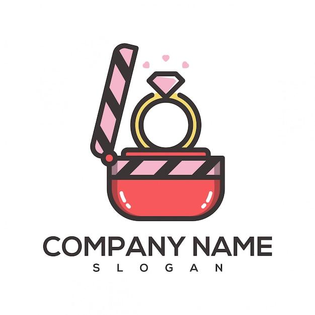 Ring film logo Premium Vector