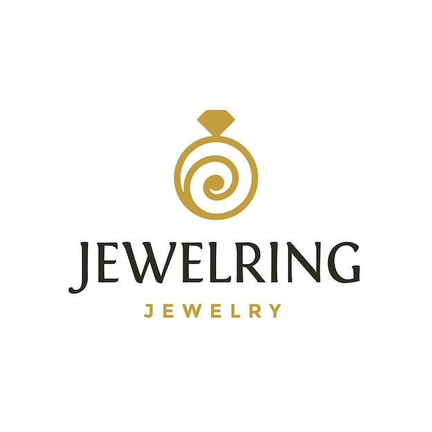 ring logo design vector premium download.