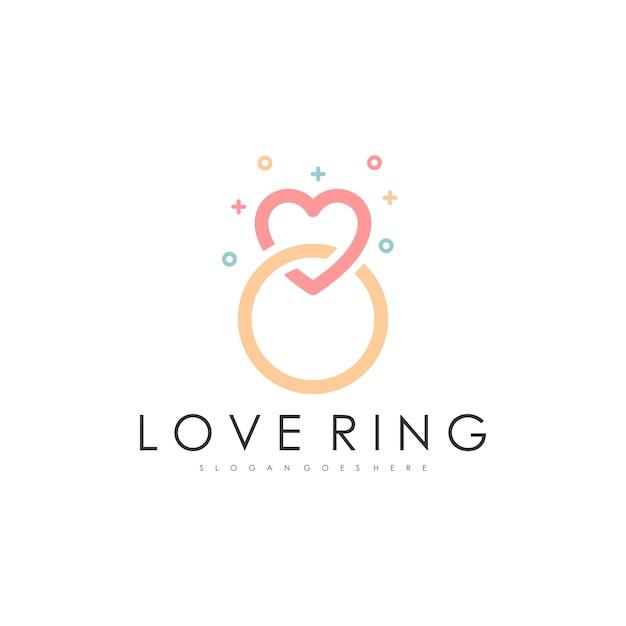 Ring logo Premium Vector