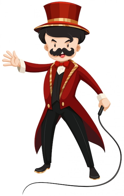 Ring master in red Free Vector