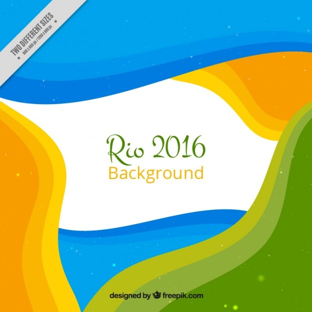 Rio 2016 background with colorful abstract shapes