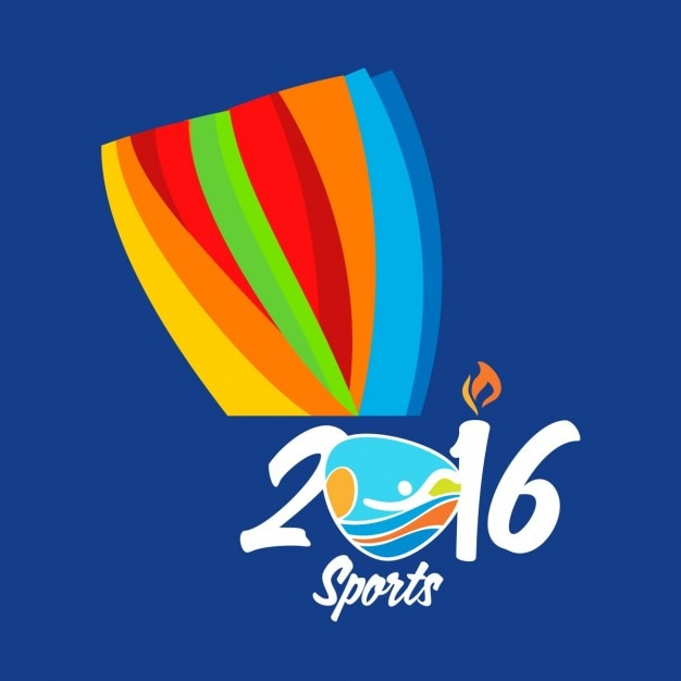 Rio 2016 colorful sports background