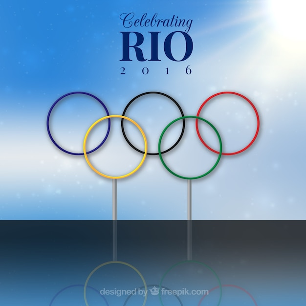 Rio olimpic games background Free Vector