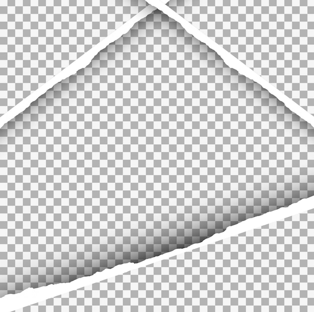 Ripped paper background in triangle form Free Vector