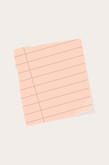 Ripped paper note background Free Vector