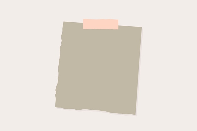 Ripped paper note Free Vector