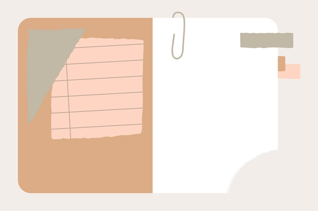 Ripped paper in notebook Free Vector