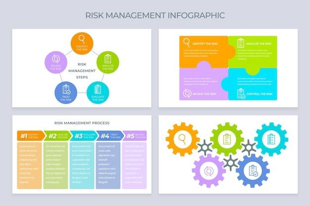 Infografica di gestione del rischio Vettore gratuito